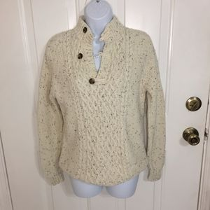Cat & Jack -  Off-White Partial Button-Up Sweater